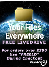 KSN are giving away FREE Live Drive unlimited online backup and storage with every online order over £250!