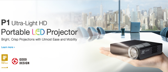 Asus P1 Portable LED Projector is one of the worlds smallest projectors that packs a punch of vivid and crisp display. Its highly mobile and takes seconds to setup for any adhoc mobile use you may have.
