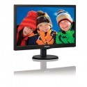 "Philips 193V5LSB2 18.5"" Widescreen TN W-LED Black Monitor (1366x768/5ms/VGA"